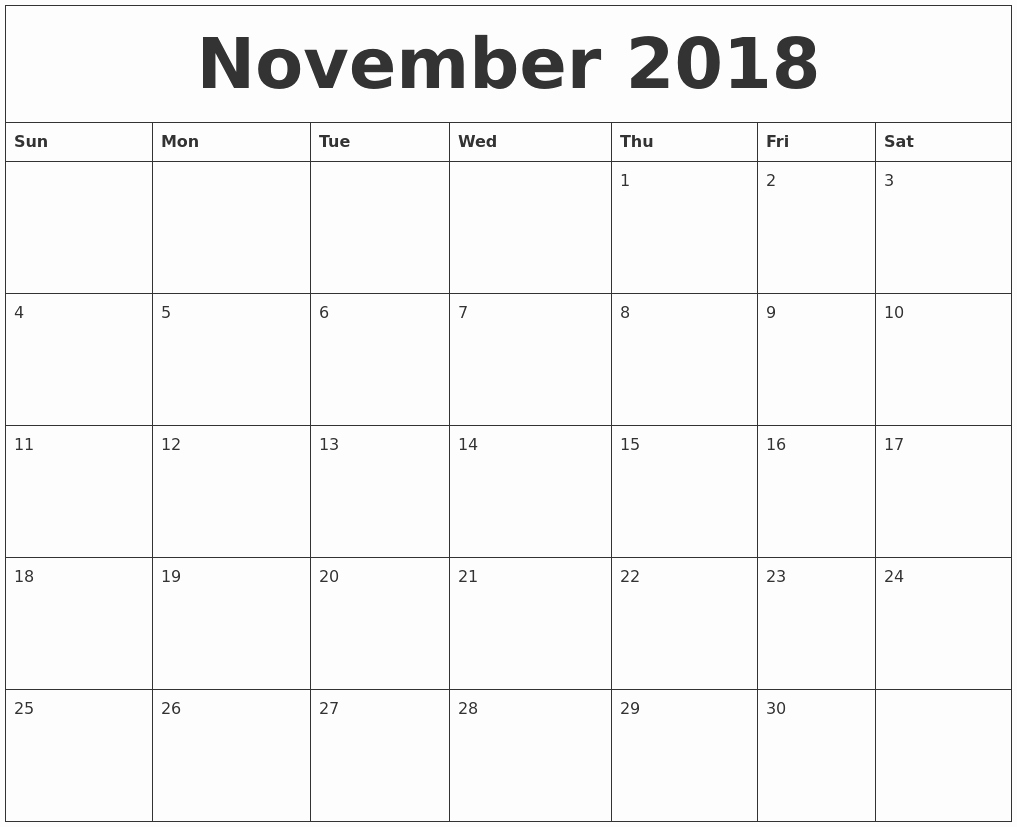 Free 2018 Monthly Calendar Template Lovely October 2018 Free Printable Calendar Templates