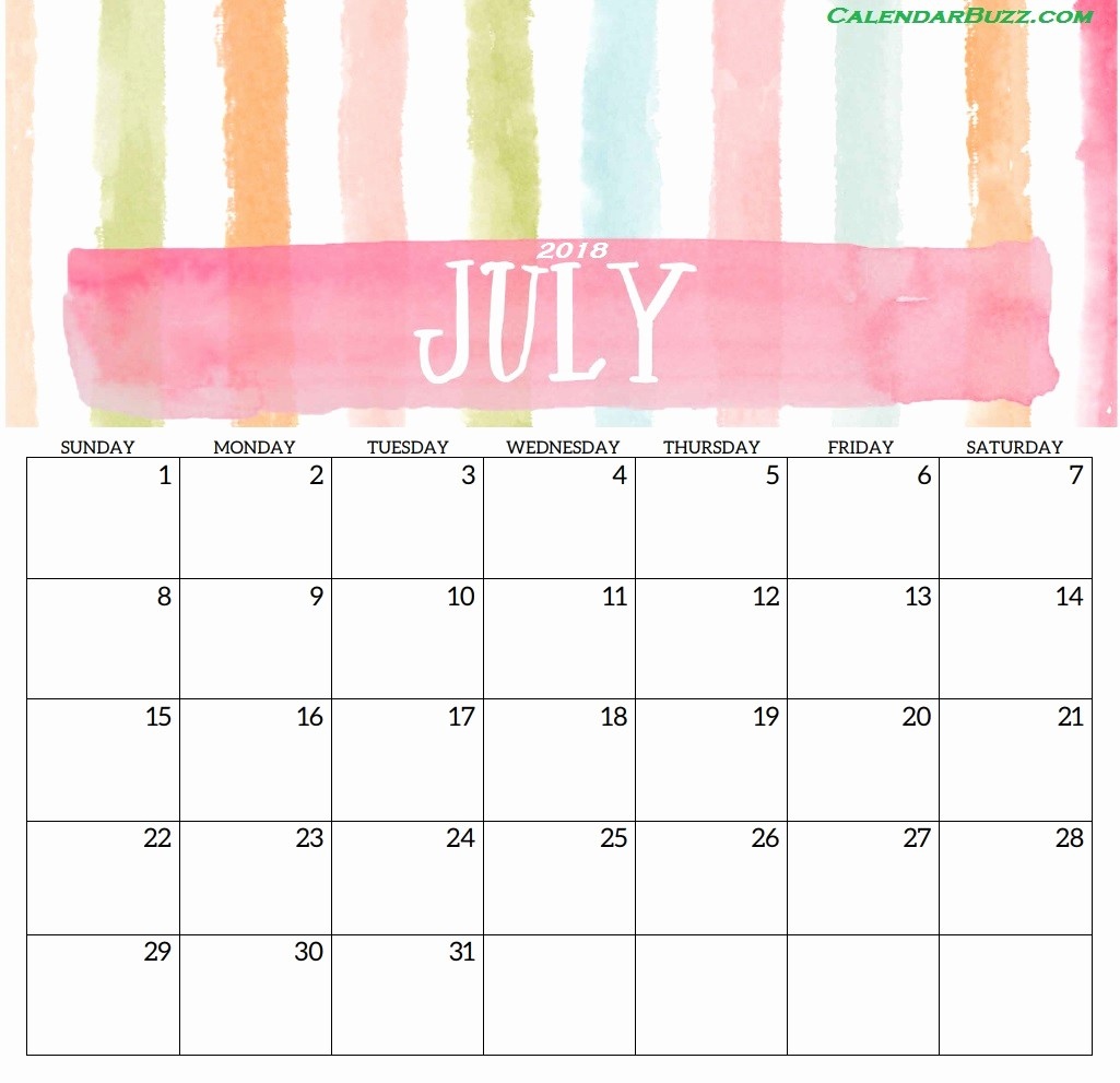 Free 2018 Monthly Calendar Template Unique Blank Templates Monthly 2018