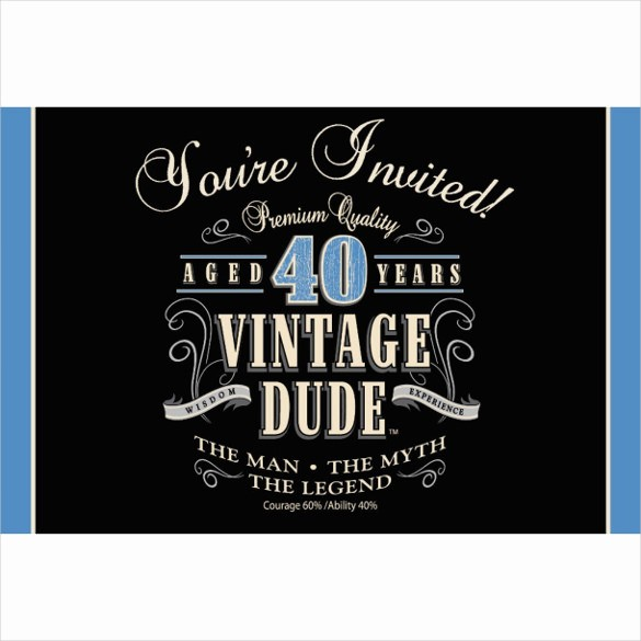 Free 40th Birthday Invitations Templates Awesome 24 40th Birthday Invitation Templates – Psd Ai