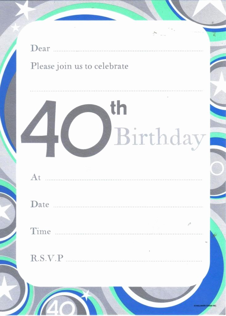 Free 40th Birthday Invitations Templates Awesome 40 Birthday Invitation Template Free