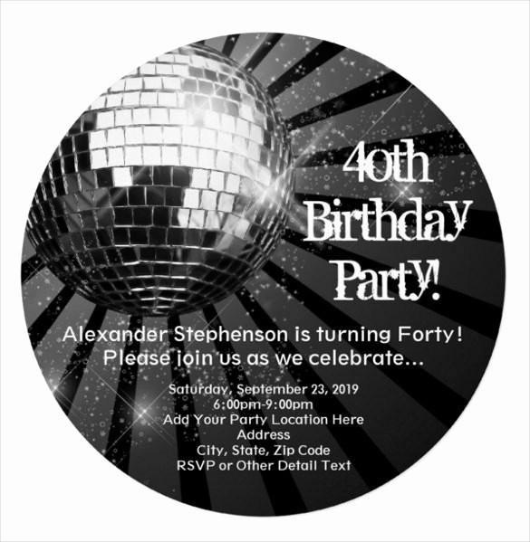 Free 40th Birthday Invitations Templates Best Of 24 40th Birthday Invitation Templates – Psd Ai