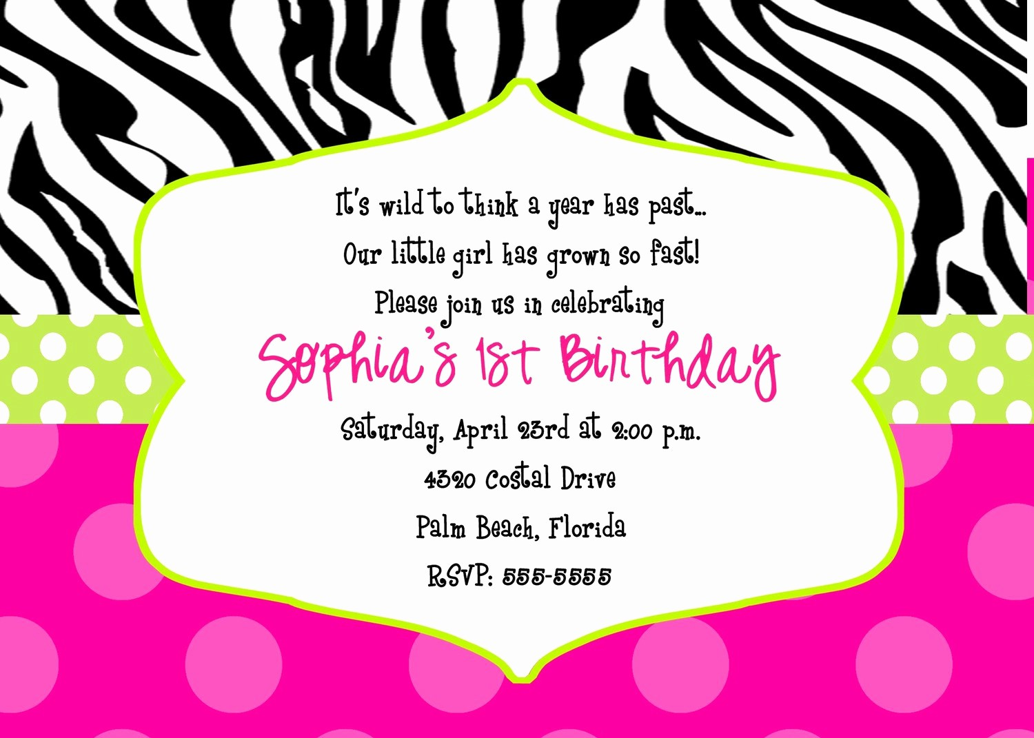 Free 40th Birthday Invitations Templates Best Of 40th Birthday Ideas Free Zebra Print Birthday Invitation