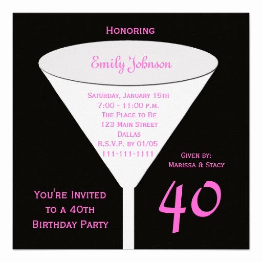 Free 40th Birthday Invitations Templates Best Of 40th Birthday Party Invitations Free