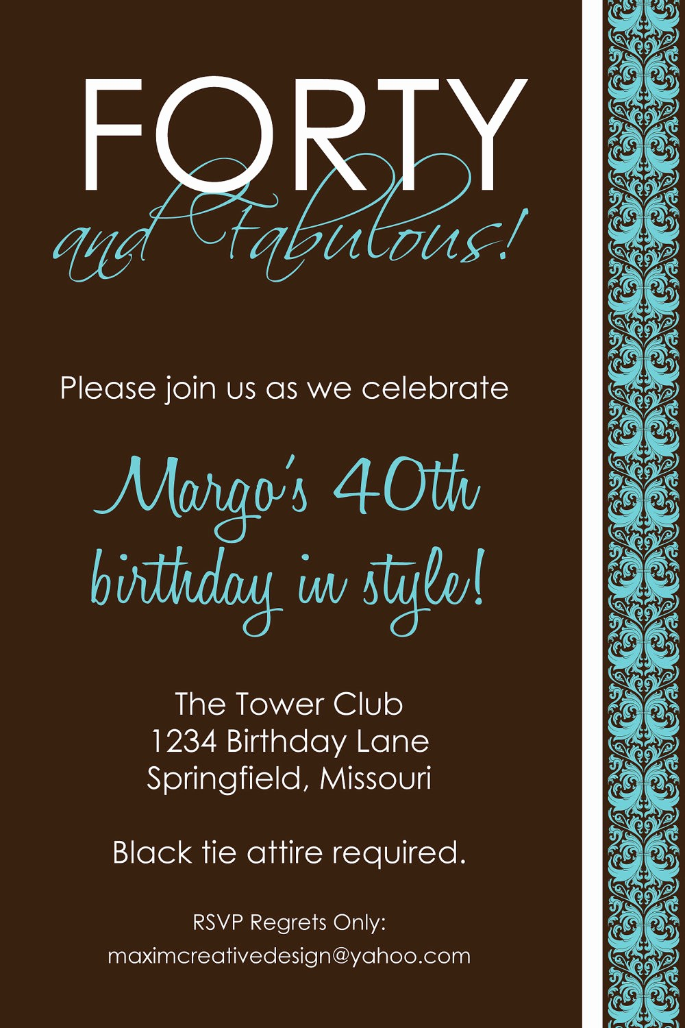 Free 40th Birthday Invitations Templates Best Of 9 Best Of Men 40th Birthday Invitations Printable