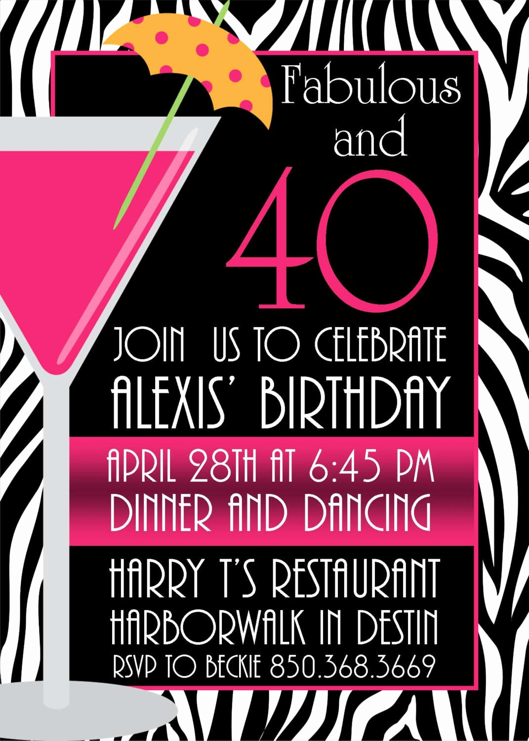 Free 40th Birthday Invitations Templates Elegant Invitation