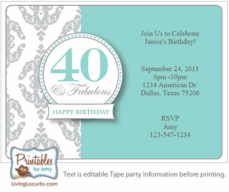 Free 40th Birthday Invitations Templates Elegant Surprise 40th Birthday Invitation Free Template