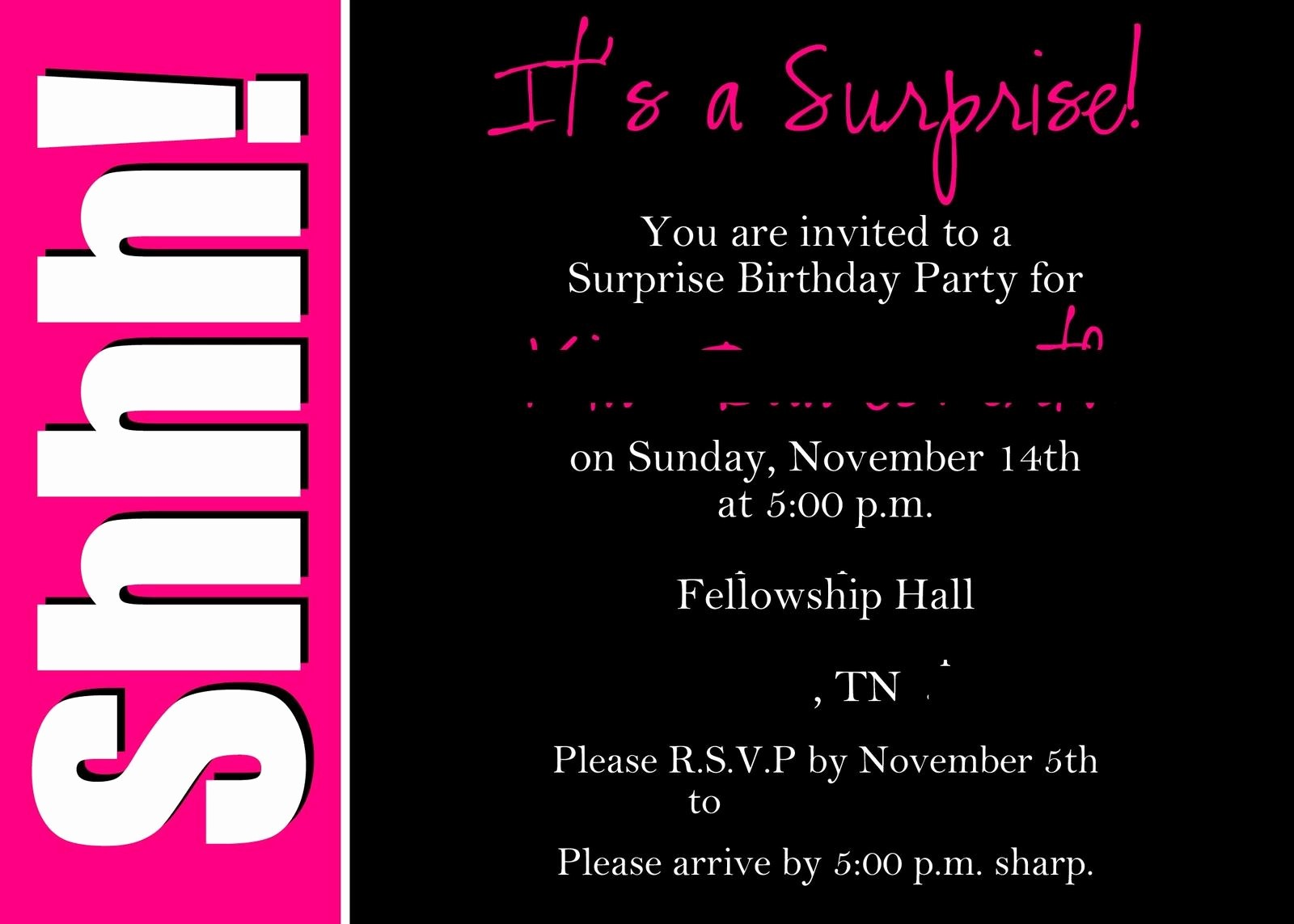 Free 40th Birthday Invitations Templates Inspirational Surprise 50th Birthday Invitations Templates