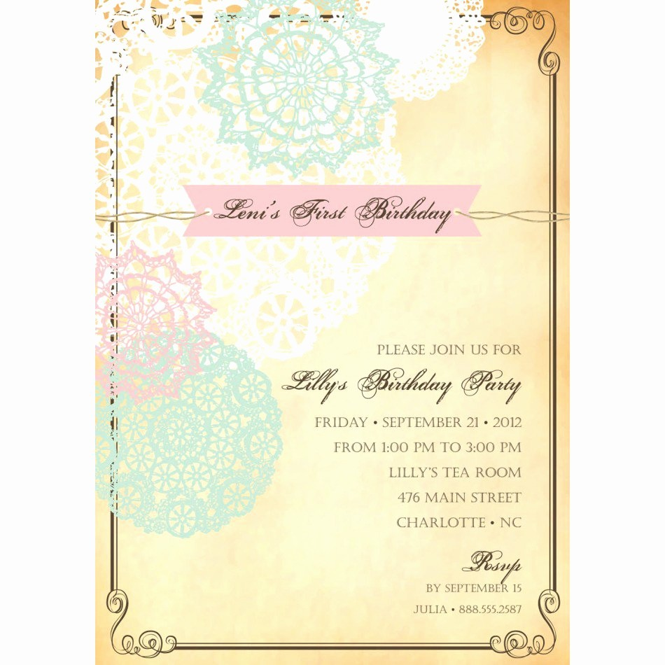 Free 40th Birthday Invitations Templates Lovely Vintage Birthday Invitations Free