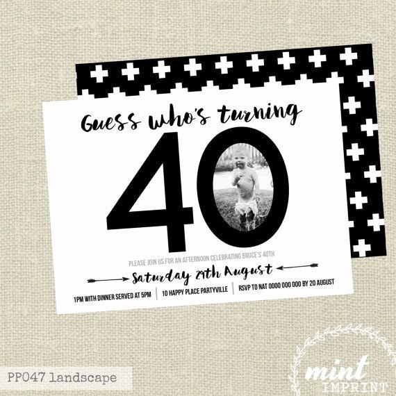 Free 40th Birthday Invitations Templates New Best 25 40th Birthday Invitations Ideas On Pinterest