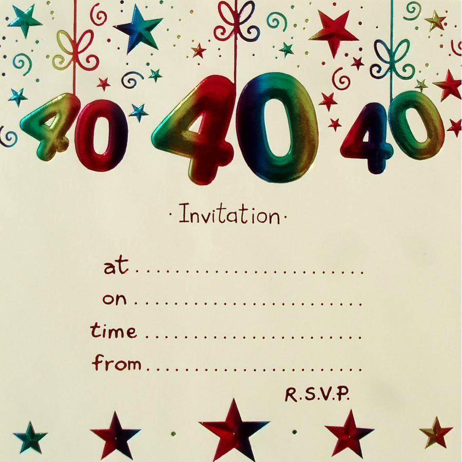 Free 40th Birthday Invitations Templates New Surprise 40th Birthday Invitation Free Template