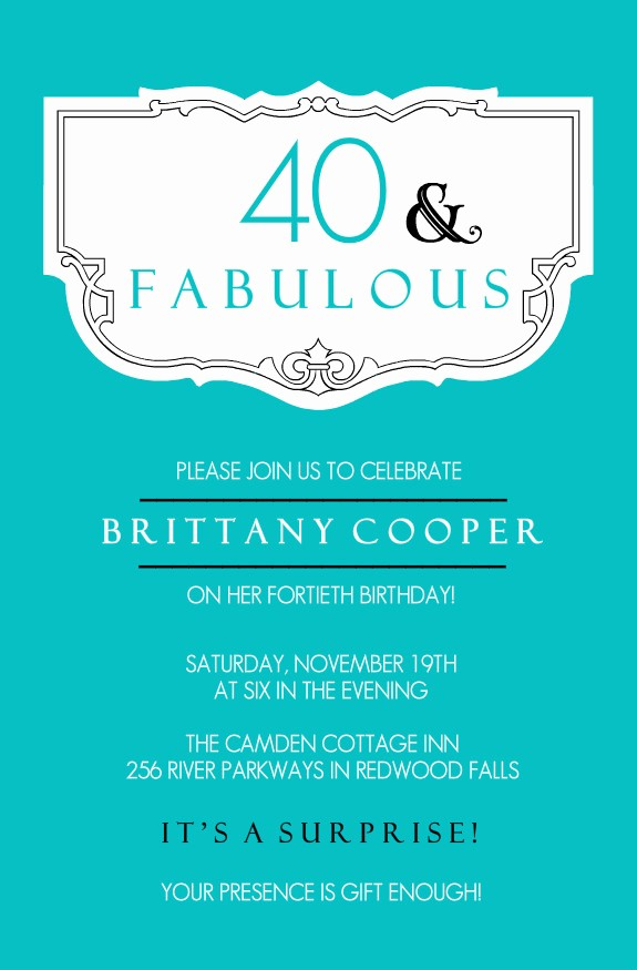 Free 40th Birthday Invitations Templates Unique 40th Birthday Ideas Free 40th Birthday Invitation