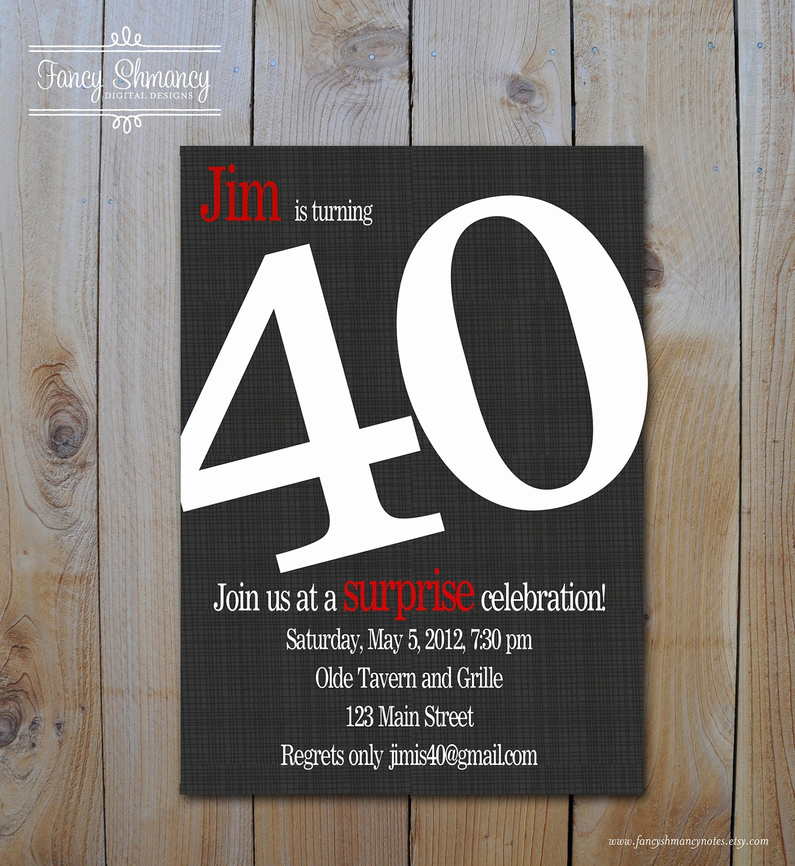 Free 40th Birthday Invitations Templates Unique 8 40th Birthday Invitations Ideas and themes – Sample