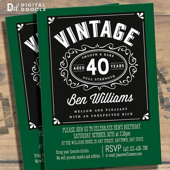 Free 40th Birthday Invitations Templates Unique Awesome Free Template 40th Birthday Party Invitations