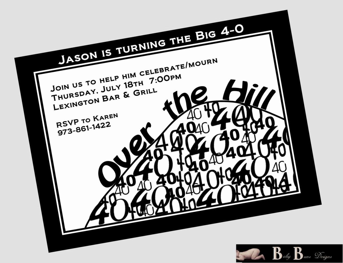 Free 40th Birthday Invitations Templates Unique Over the Hill Birthday Invitations