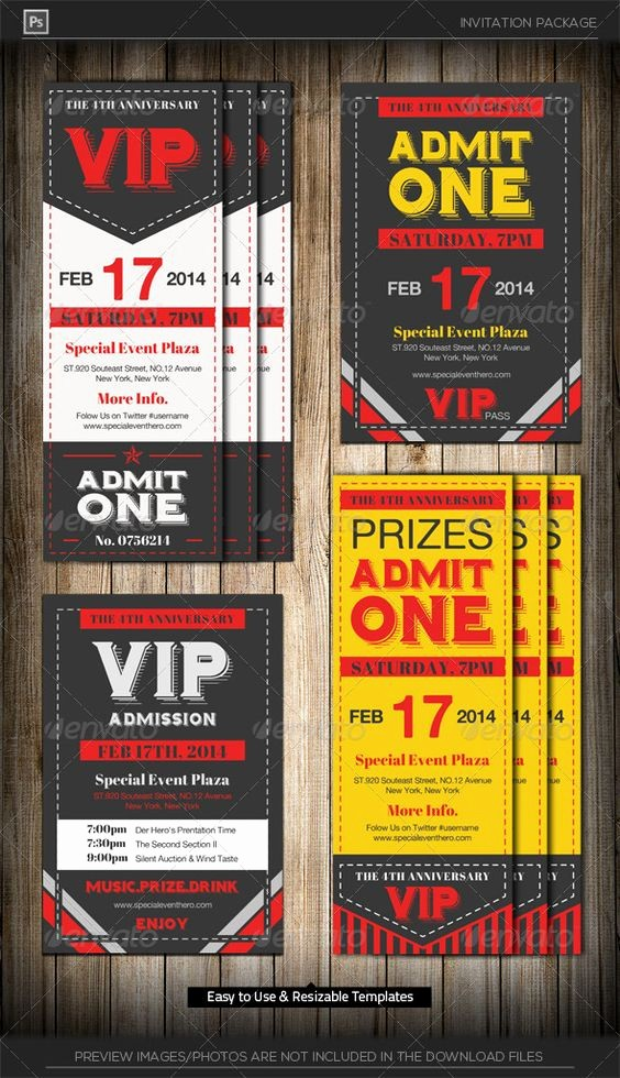 Free Admit One Ticket Template Awesome Admit E Vip Ticket Invitation Template