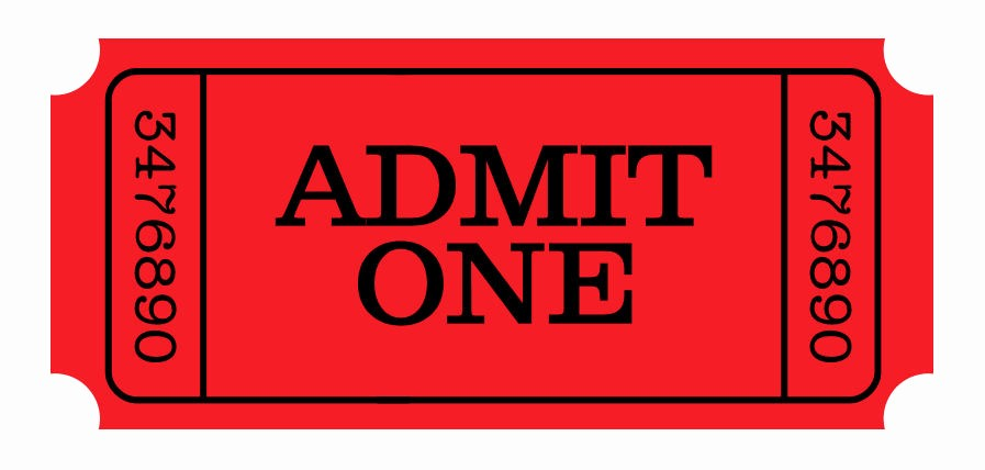 Free Admit One Ticket Template Awesome Free Printable Admit E Ticket Template Clipart Best
