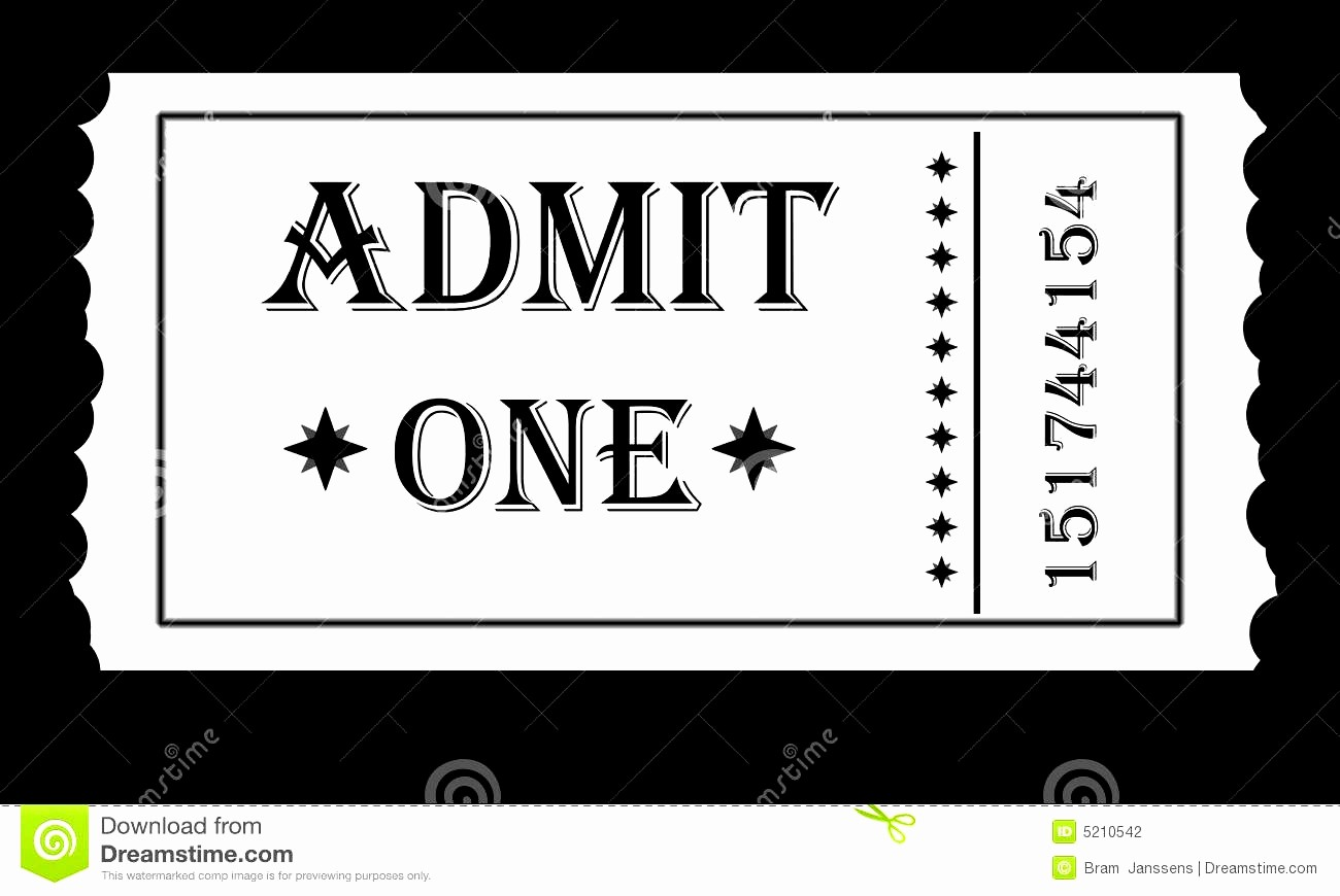 Free Admit One Ticket Template Beautiful Admit E Ticket Template Example Mughals
