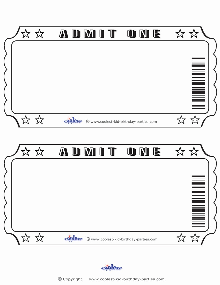 Free Admit One Ticket Template Best Of 6 Best Of Free Printable Admit E Invitations