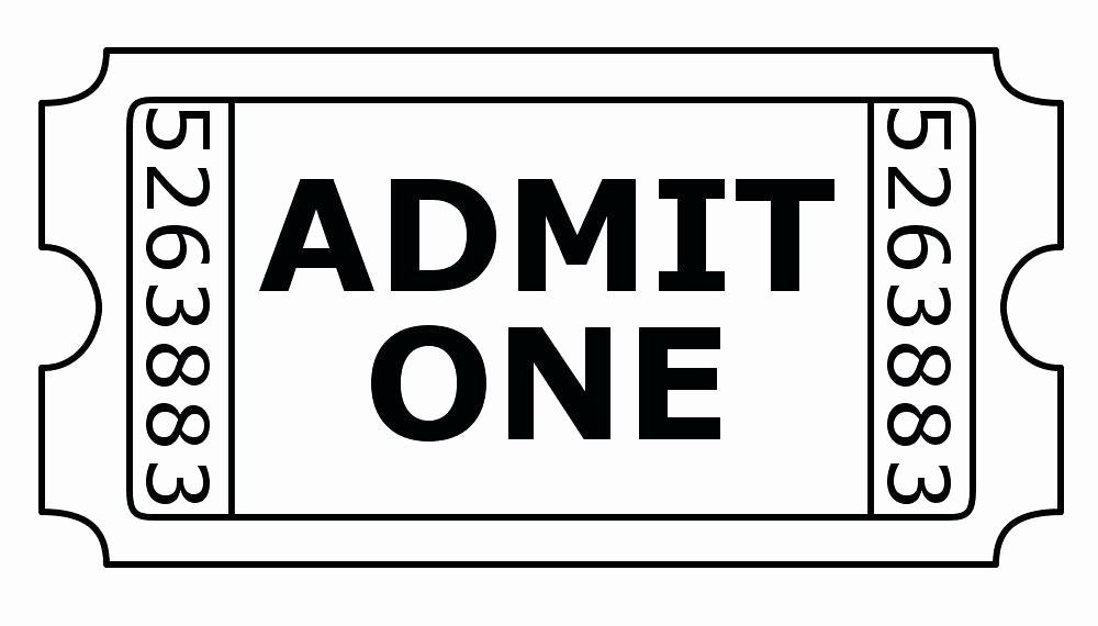 Free Admit One Ticket Template Elegant Admit 1 Ticket Template E White Sparkle Business