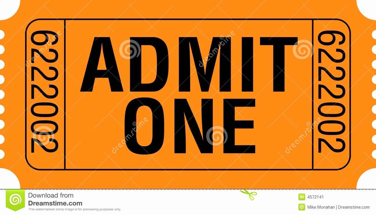 Free Admit One Ticket Template Elegant Admit E Ticket Template Example Mughals