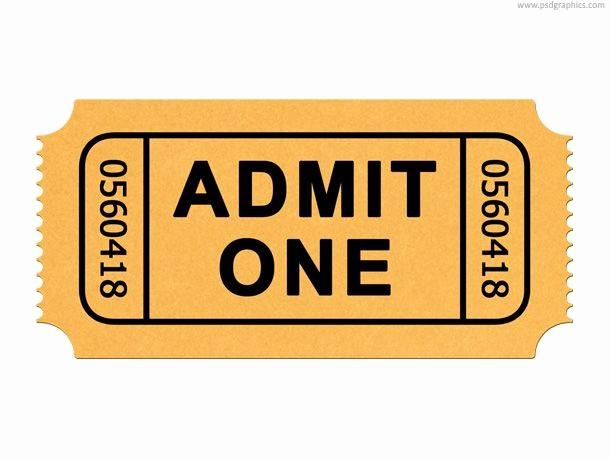 Free Admit One Ticket Template Elegant Best 25 Admit One Ticket Ideas On Pinterest
