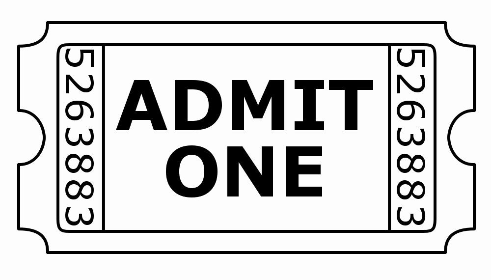 Free Admit One Ticket Template Fresh Blank Admit E Ticket Template Clipart Best