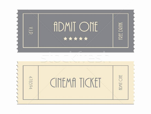 Free Admit One Ticket Template Luxury Special Vector Ticket Template Admit One Cinema Ticket