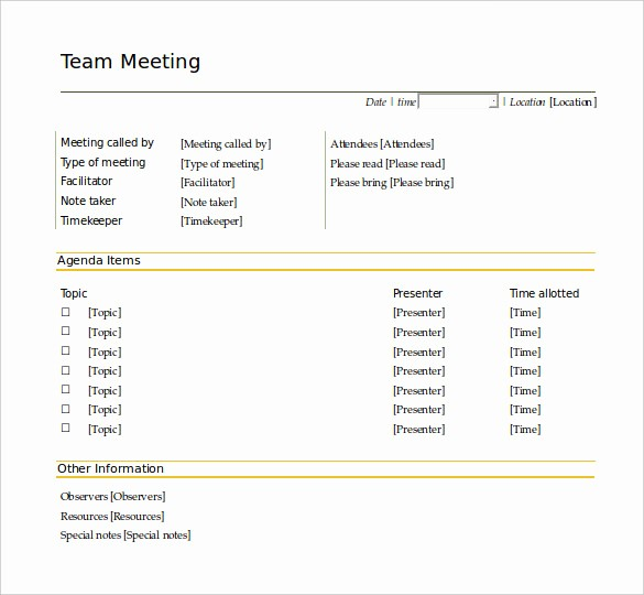 Free Agenda Templates for Word Awesome 50 Meeting Agenda Templates Pdf Doc