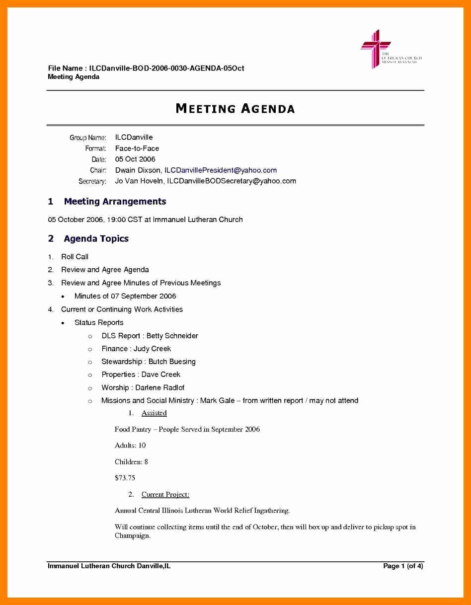Free Agenda Templates for Word Elegant Sample Board Meeting Agenda Featuring Protect Letters