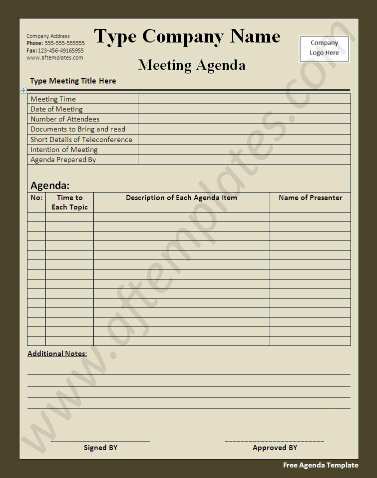 Free Agenda Templates for Word Inspirational Free Agenda Template