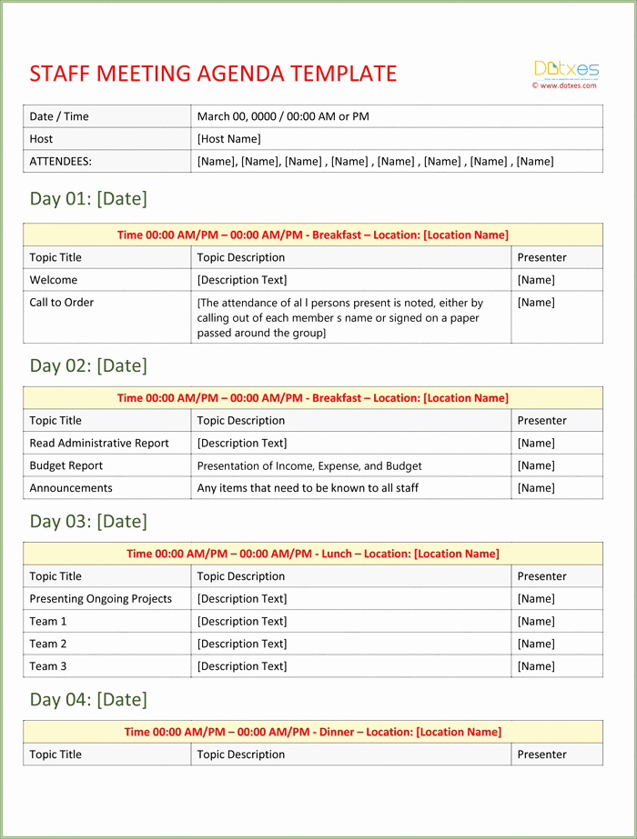 Free Agenda Templates for Word Luxury event Agenda Template Write A Perfect event Agenda