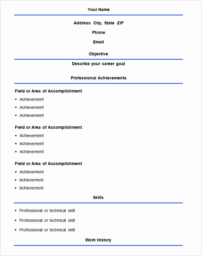 Free and Easy Resume Templates Awesome 70 Basic Resume Templates Pdf Doc Psd