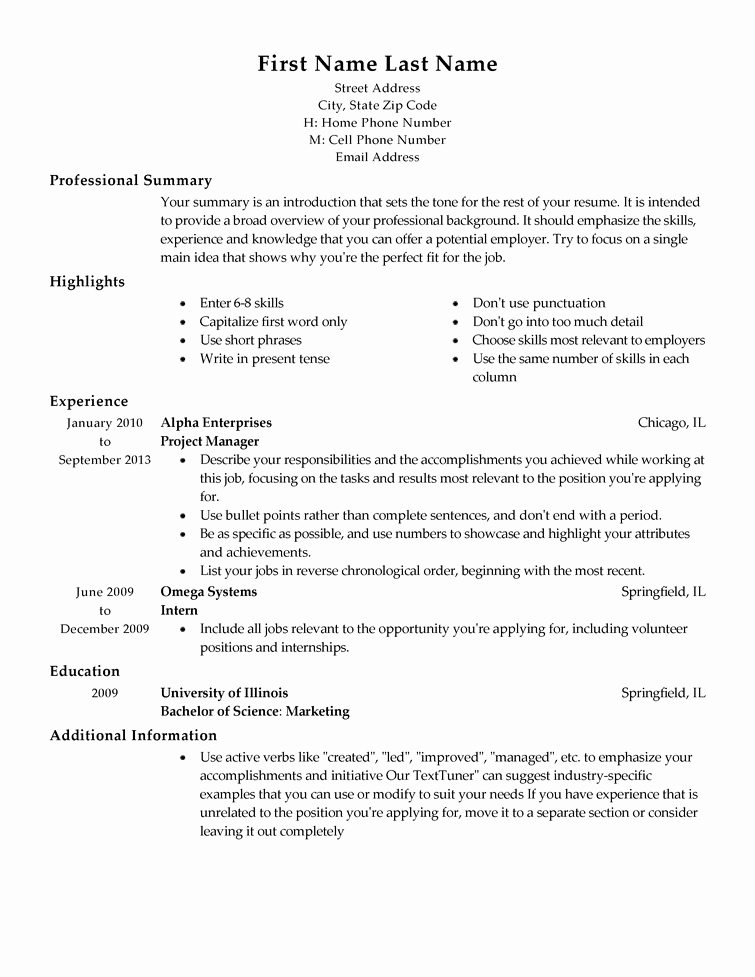 Free and Easy Resume Templates Beautiful Free Professional Resume Templates