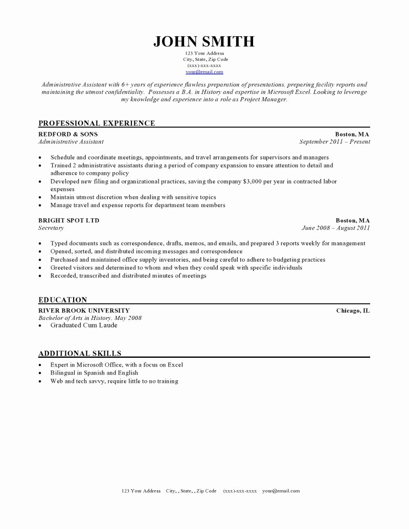 Free and Easy Resume Templates Fresh Expert Preferred Resume Templates