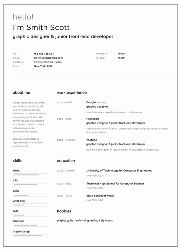 Free and Easy Resume Templates Fresh Free Resume Templates for 2017 Freebies