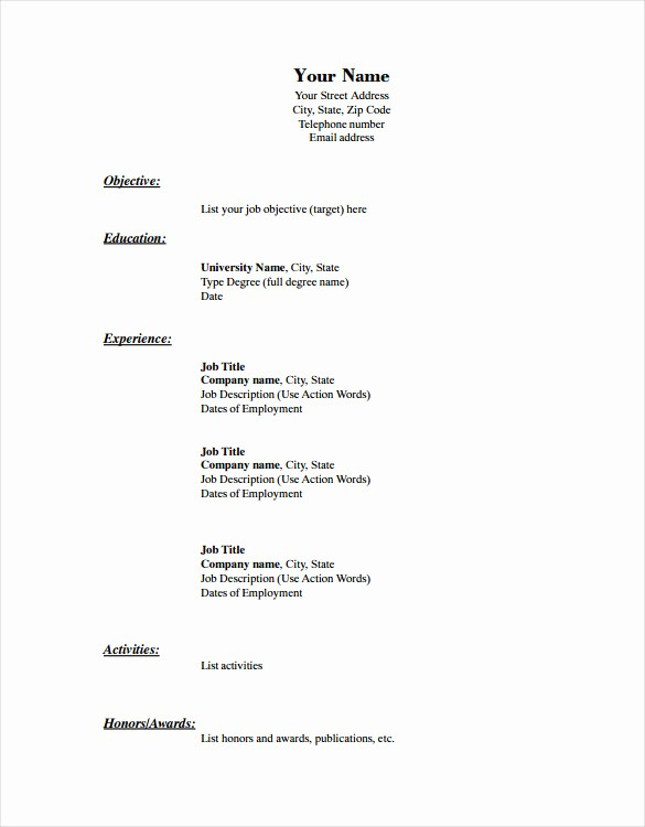 Free and Easy Resume Templates Inspirational Blank Resume Template – 15 Free Psd Vector Eps Ai
