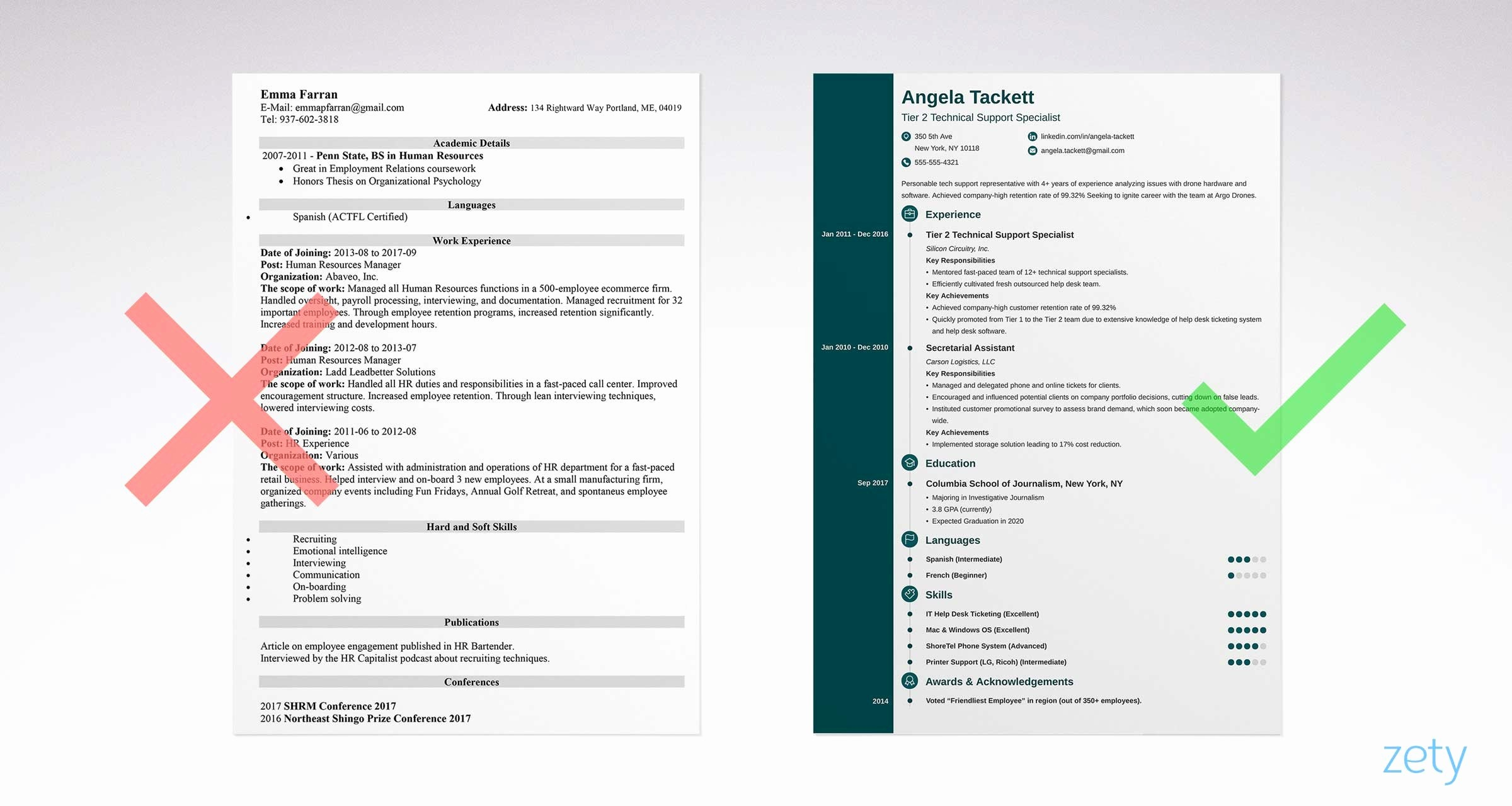 Free and Easy Resume Templates Lovely Simple Resume Templates 15 Examples to Download & Use now