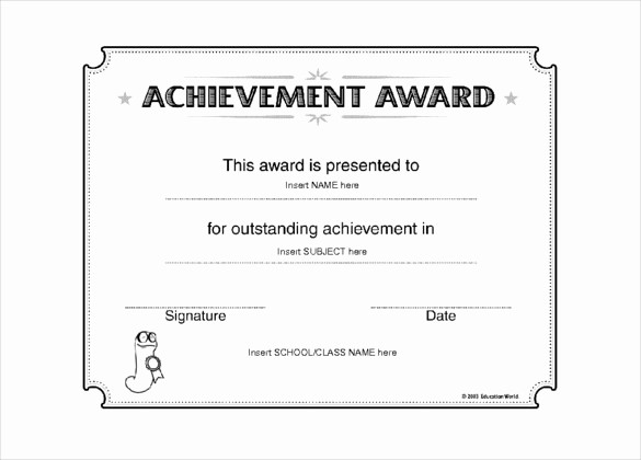 Free Award Certificate Template Word Awesome 6 Award Templates Doc Pdf
