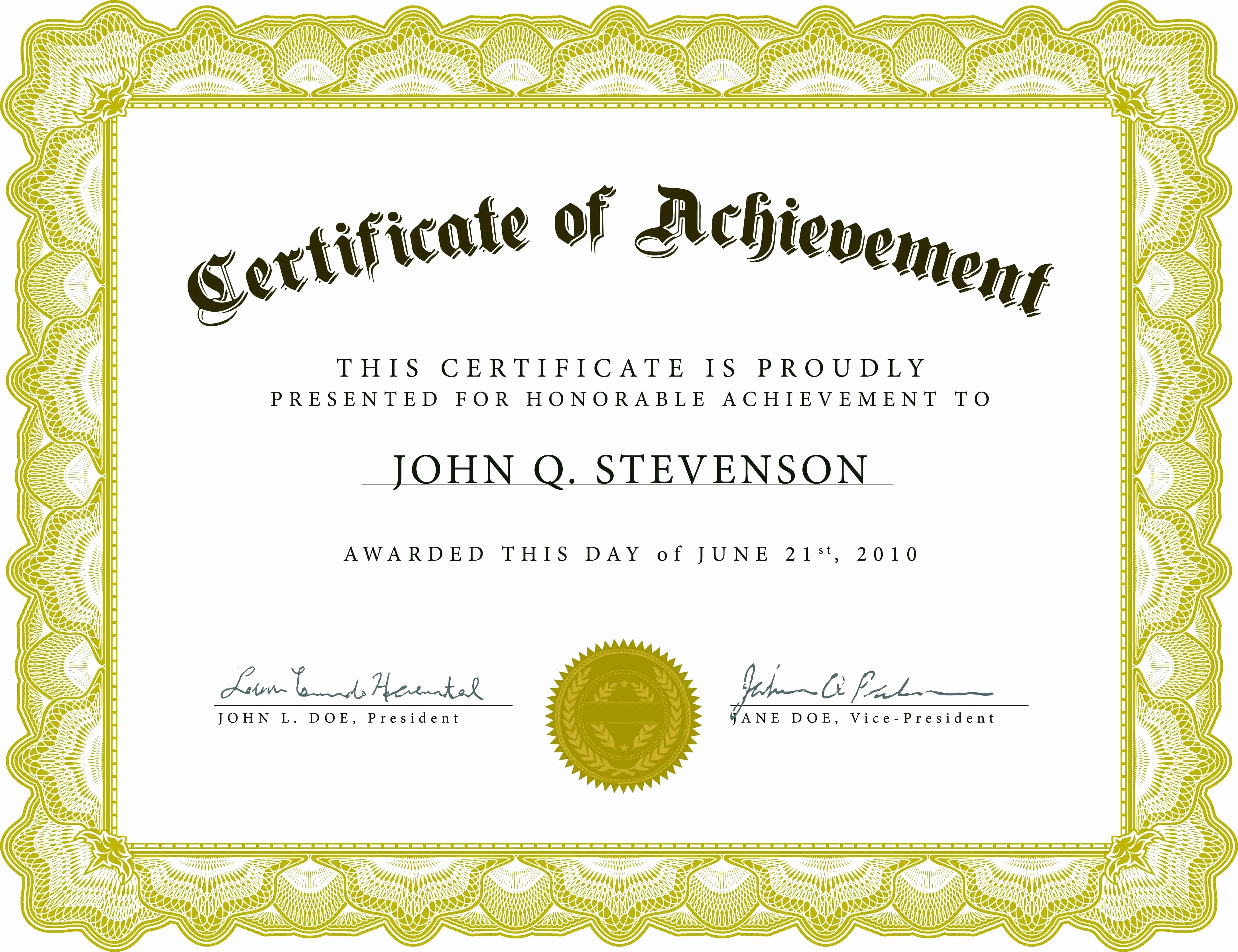 Free Award Certificate Template Word Awesome Template Long Service Certificate Template Sample