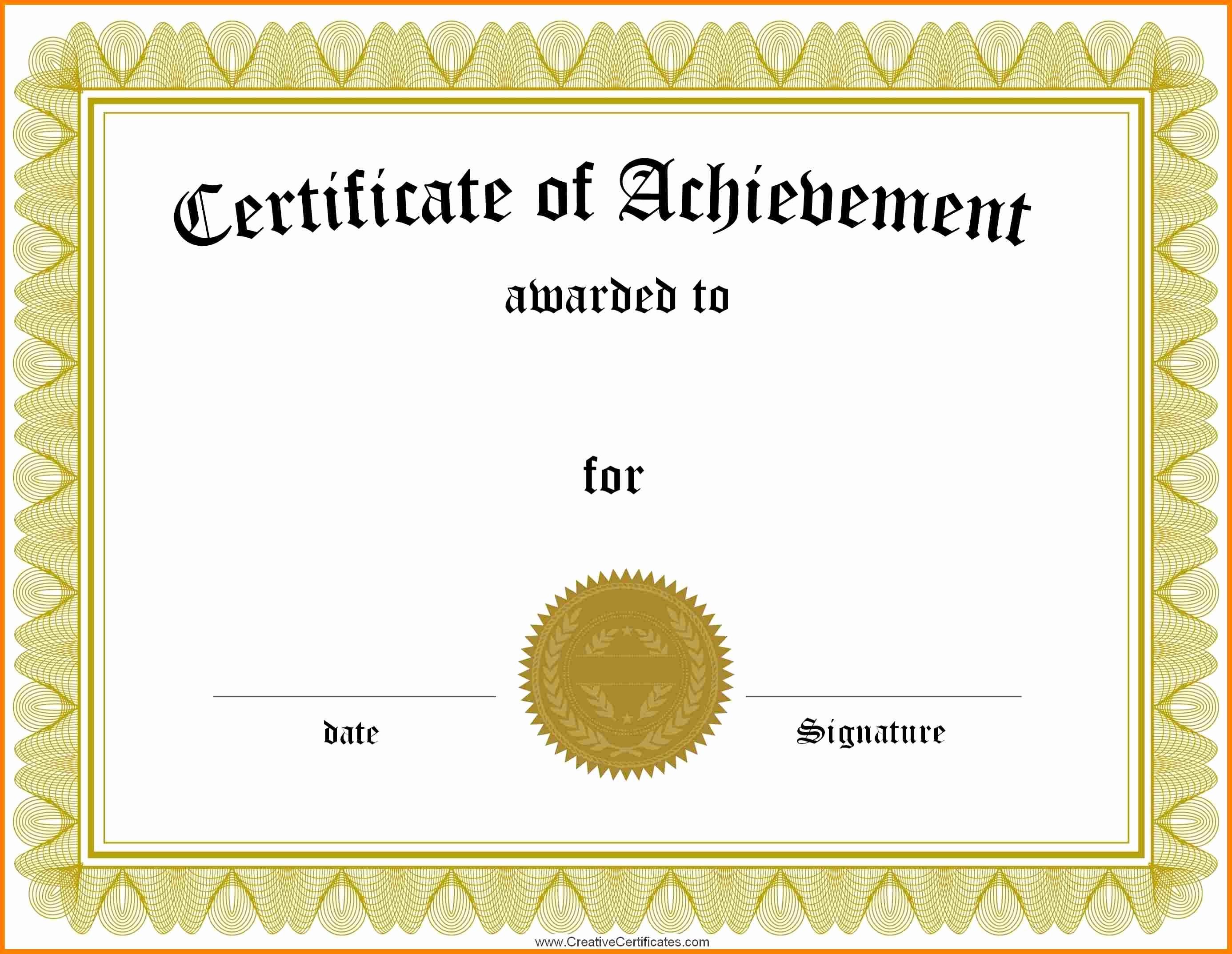 Free Award Certificate Template Word Elegant Blank Certificate forms Portablegasgrillweber