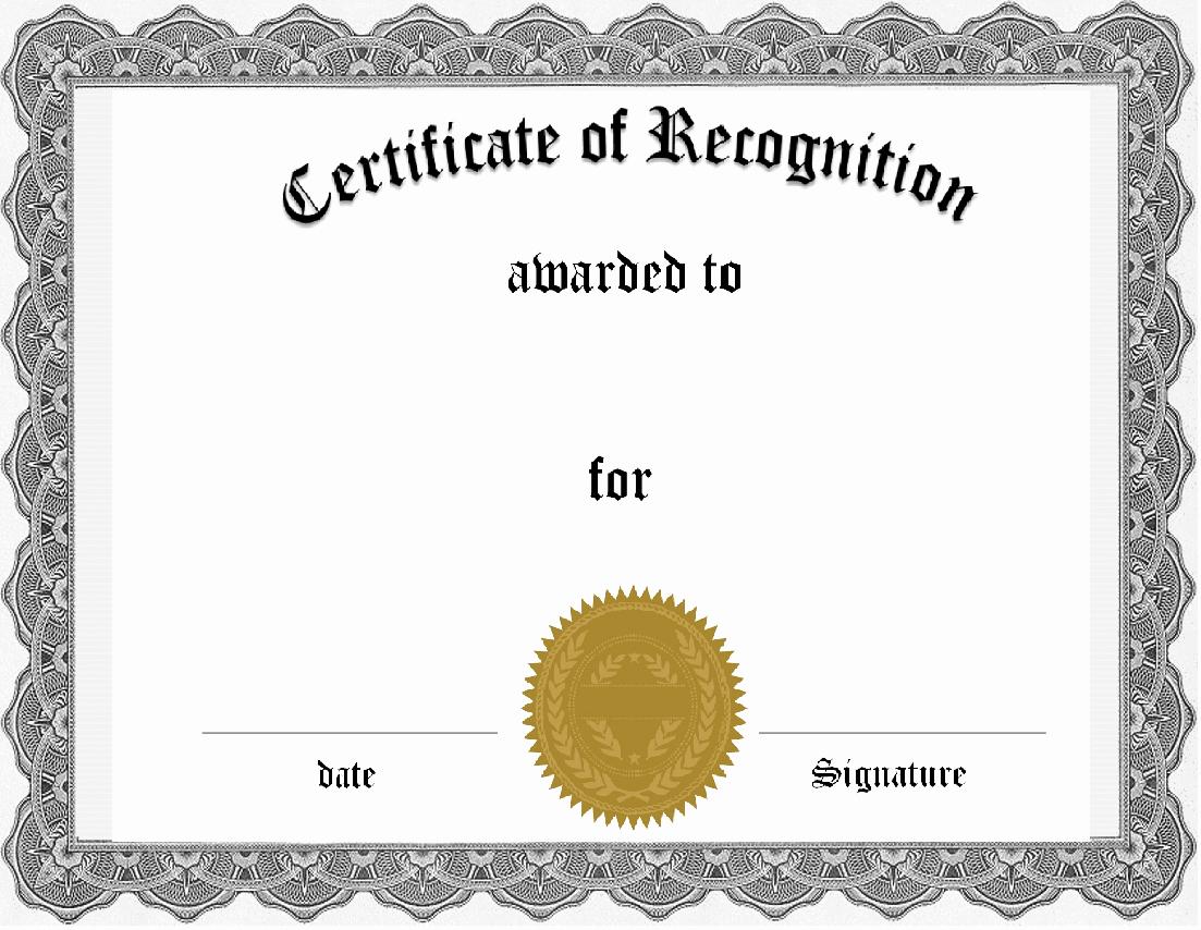Free Award Certificate Template Word Fresh 36 Certificate Word Template Free Free Printable