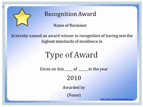 Free Award Certificate Template Word Inspirational 10 Best Of Microsoft Word Certificate Template