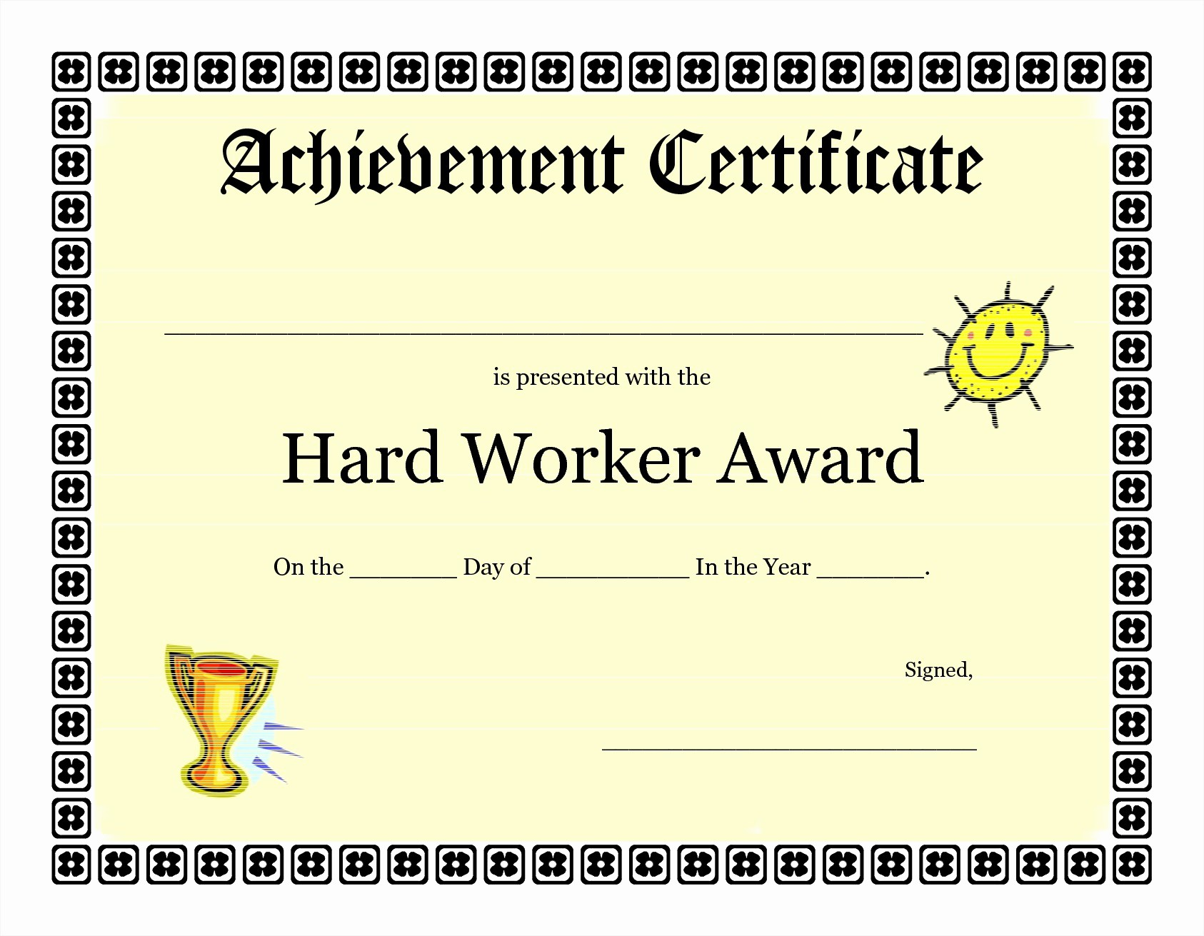 Free Award Certificate Template Word Lovely Achievement Certificate Templates Free Mughals