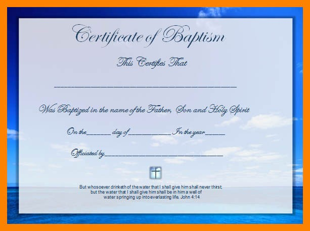 Free Baptism Certificate Template Word Awesome 12 Certificate Template Free Microsoft Word