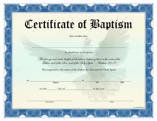 Free Baptism Certificate Template Word Best Of Free Editable Baptism Certificate Template Free Baptism