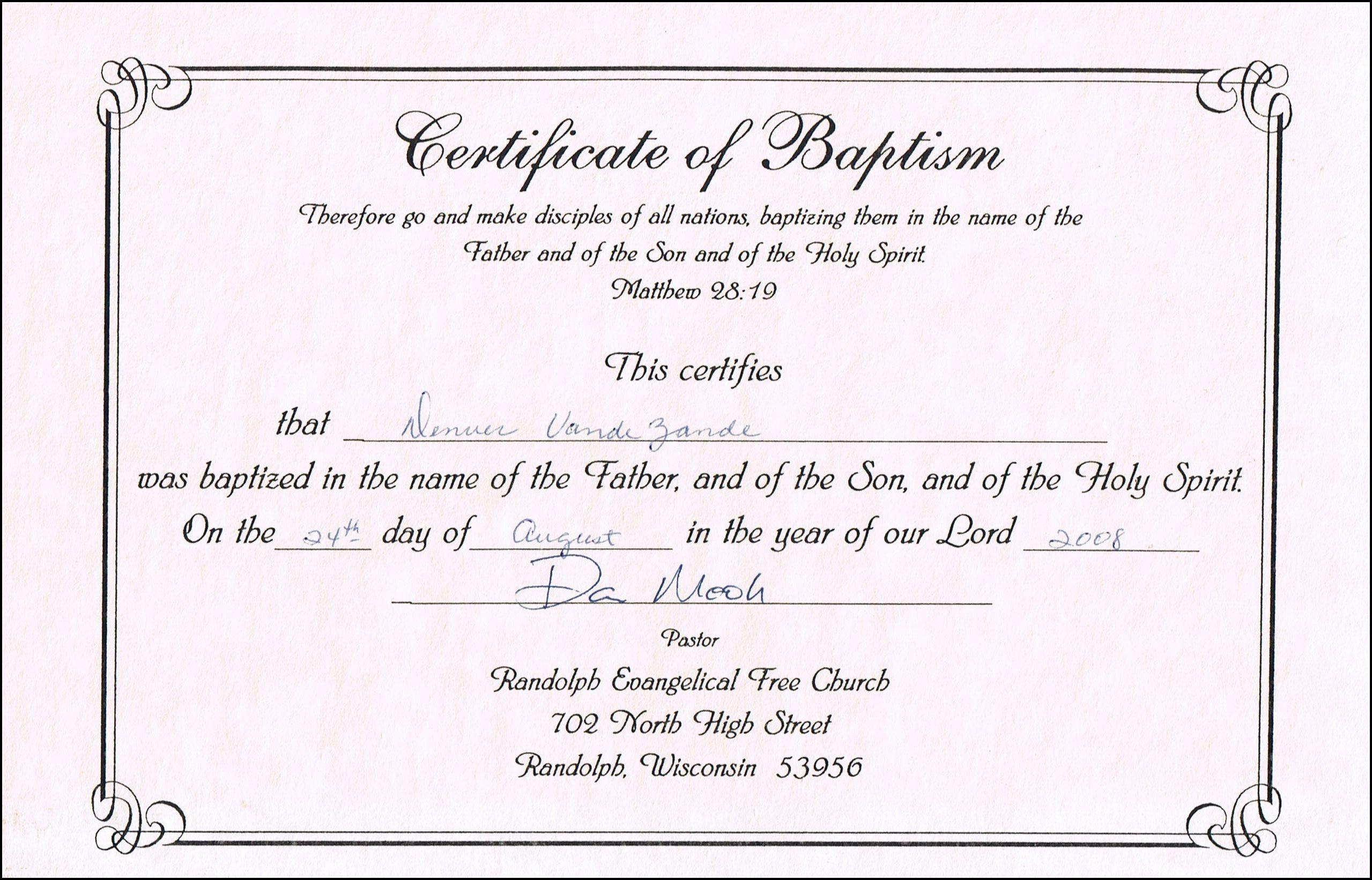 Free Baptism Certificate Template Word Elegant Baptism Certificate Templates for Word