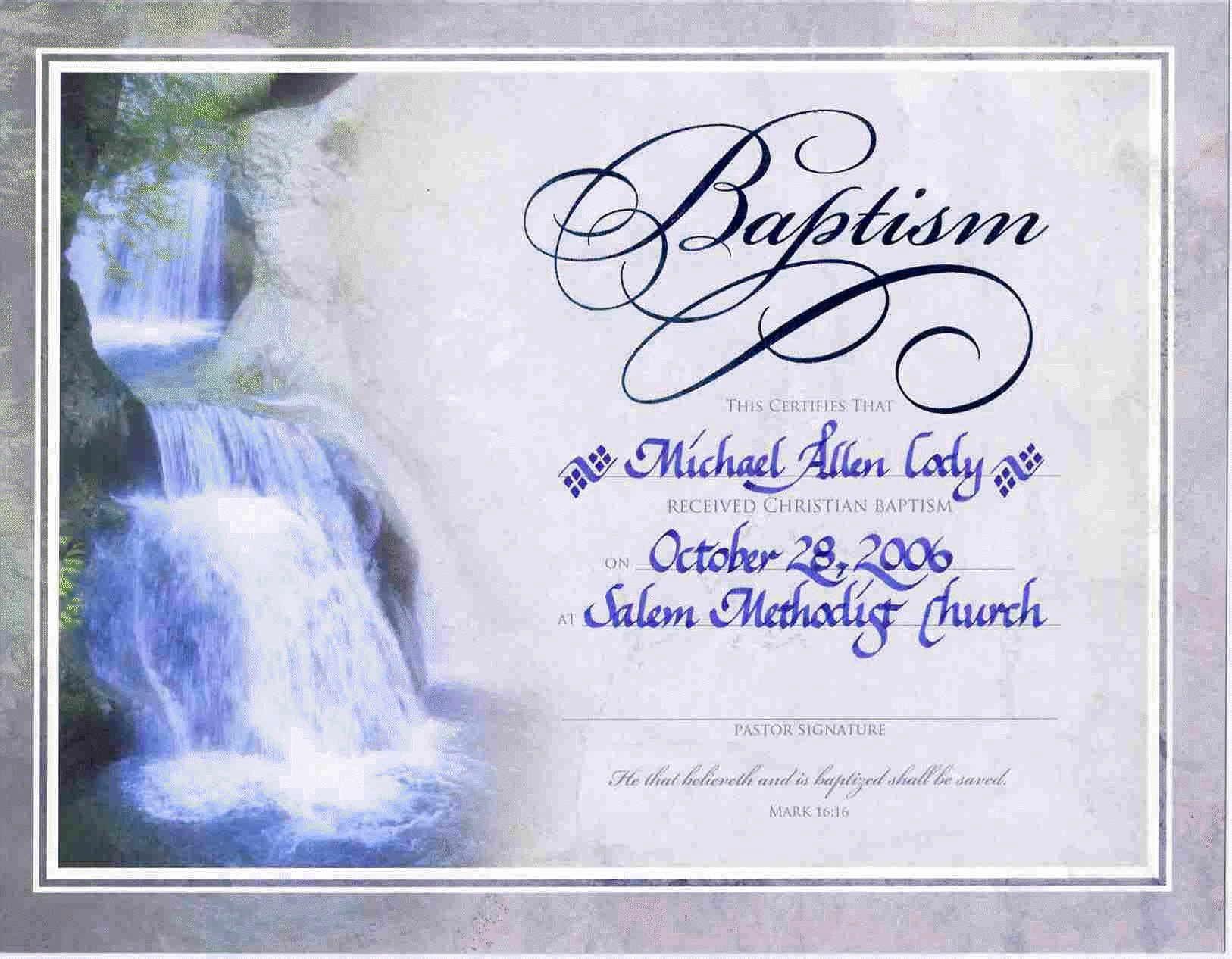 Free Baptism Certificate Template Word Elegant Water Baptism Certificate Templateencephalos