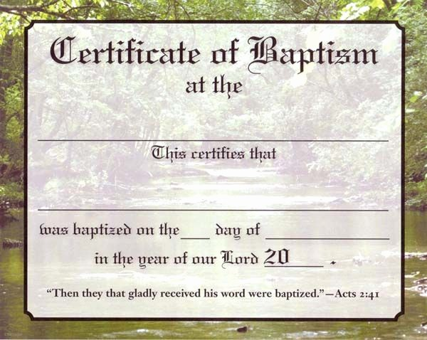 Free Baptism Certificate Template Word Inspirational Christian Baptism Certificate Template