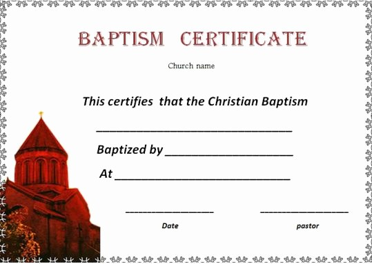 Free Baptism Certificate Template Word New 30 Baptism Certificate Templates Free Samples Word
