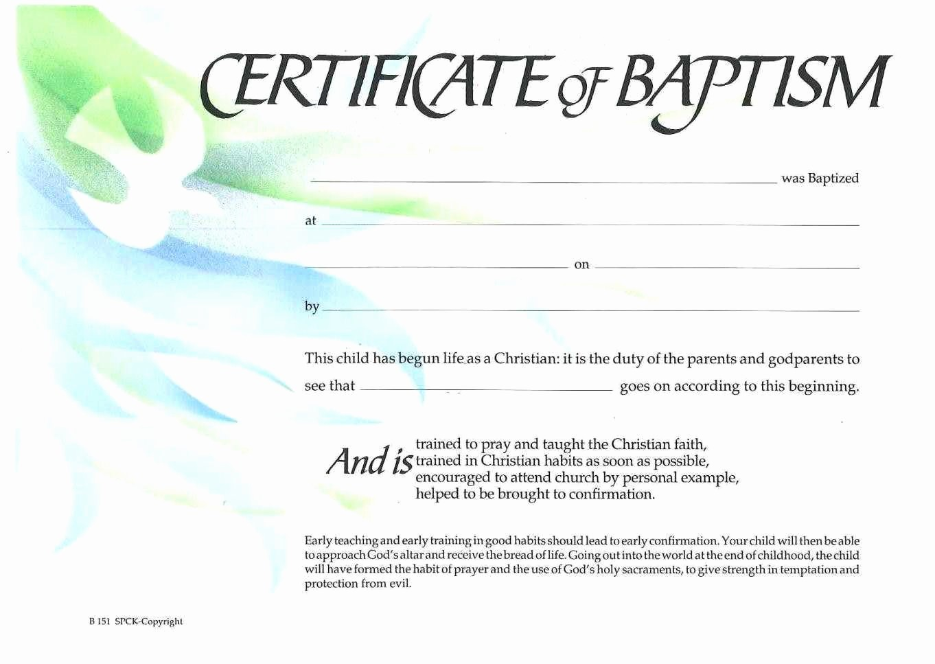 Free Baptism Certificate Template Word New Sample Baptism Certificate Templates